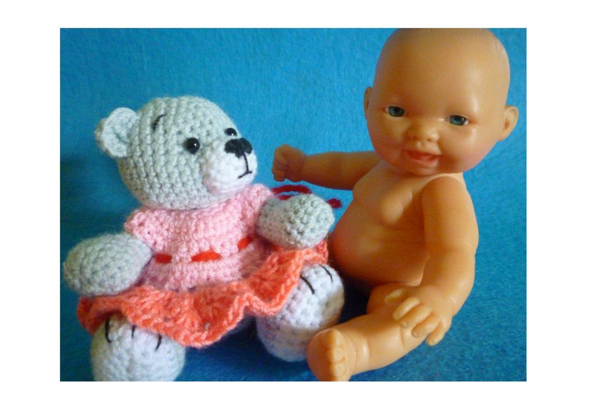 Grey Bear Amigurumi Crochet Pattern : Joy For Craft: Miniature Crochet Bear