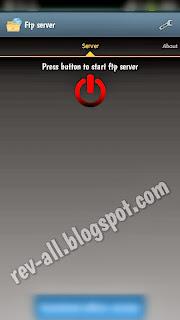 tampilan utama aplikasi ftp server