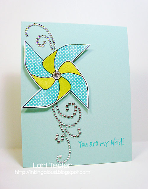You Are My Whirl card-designed by Lori Tecler/Inking Aloud-stamps from Waltzingmouse Stamps