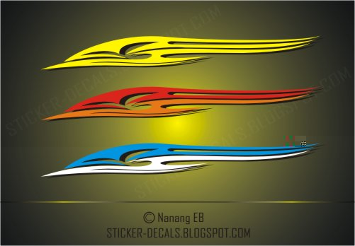 Racing tribal stickers
