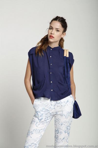 Leandro Dominguez primavera verano 2014 camisas mujer