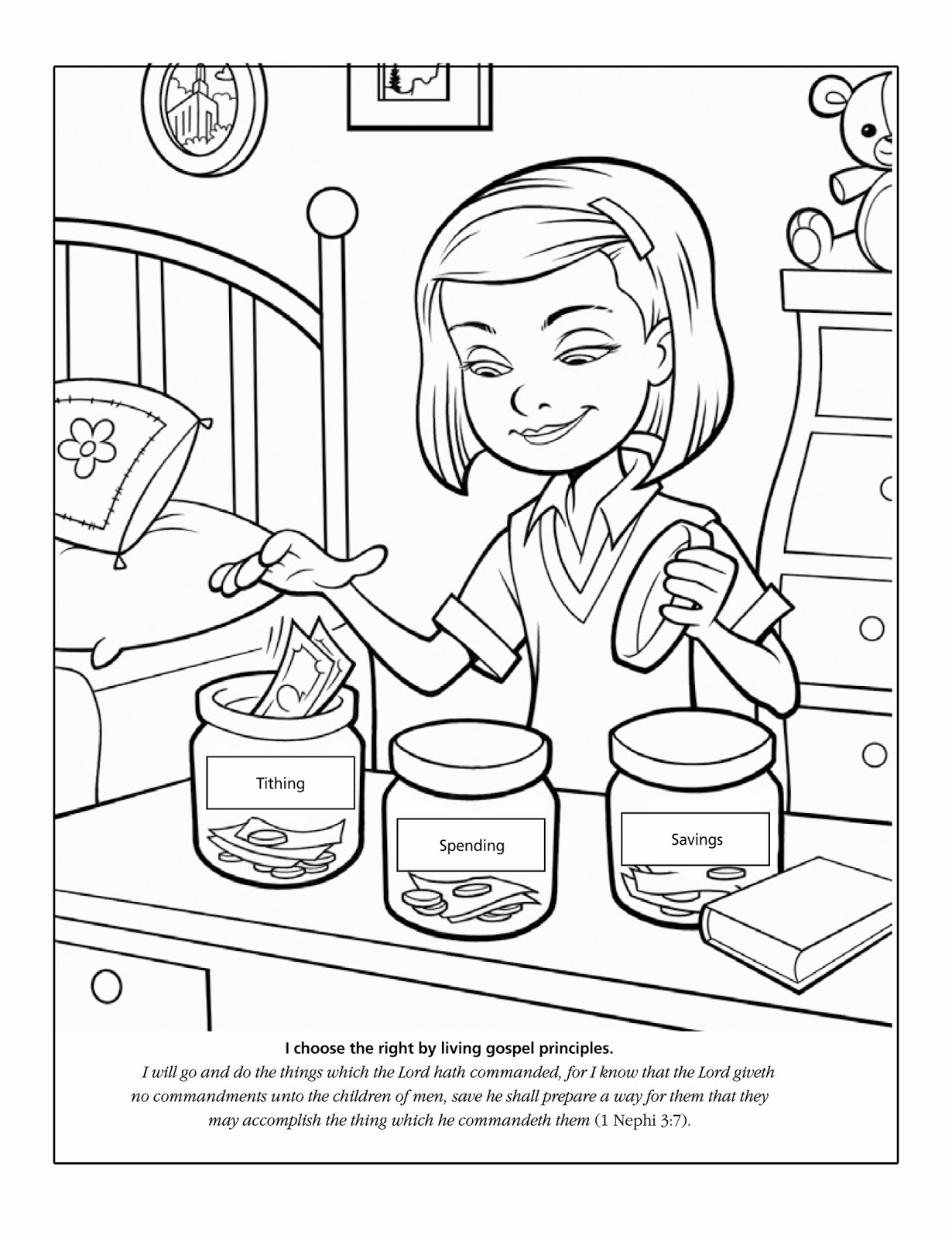 money coloring pages for preschoolers - photo#12