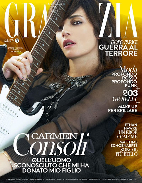 Singer, @ Carmen Consoli - Grazia Italy, December 2015