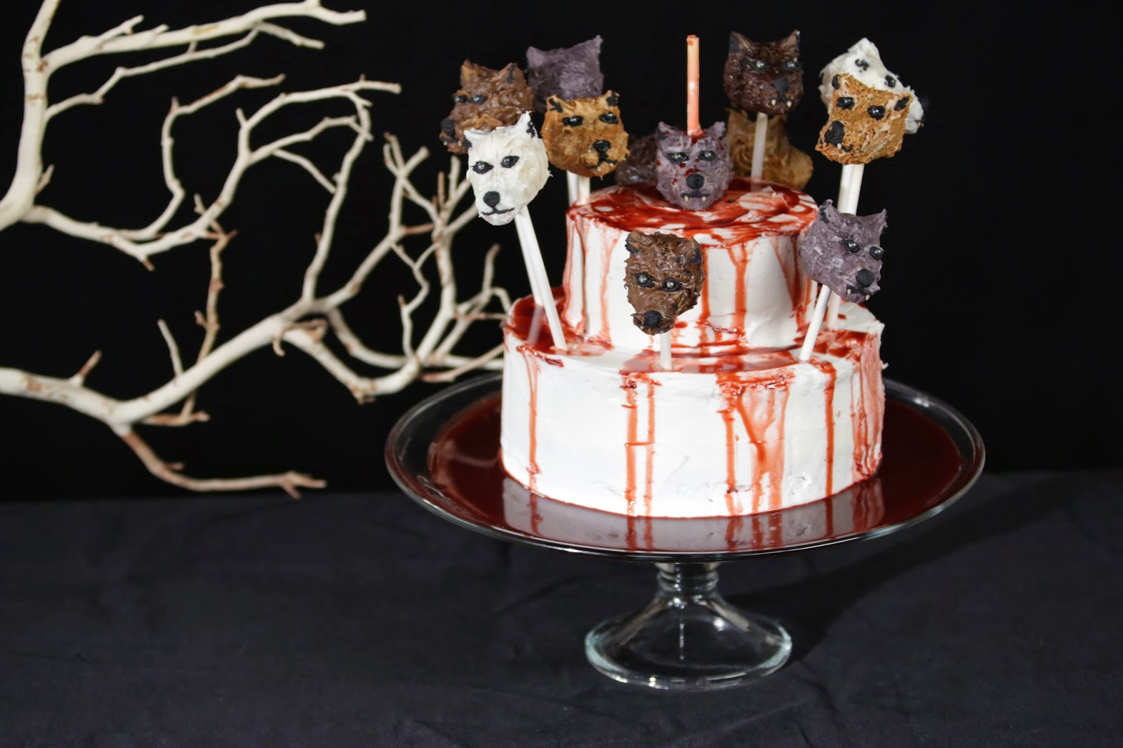 Red Wedding Game of Thrones Cake Direwolves Cake Pops