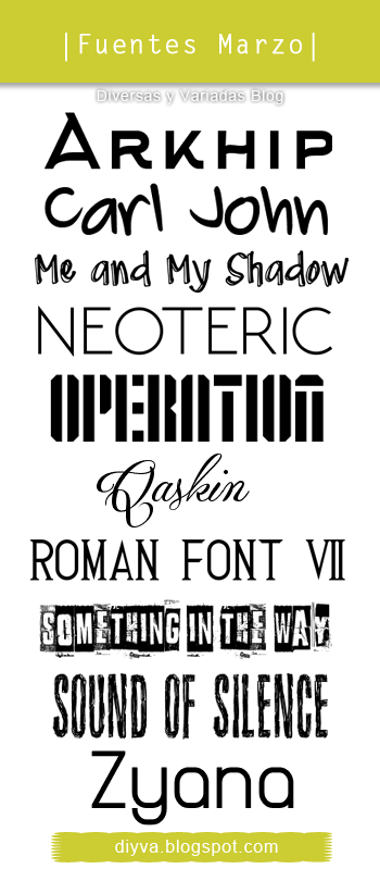 March Fonts