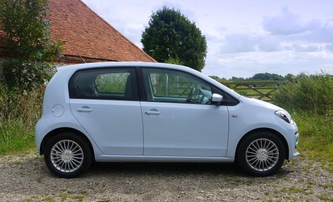 Volkswagen High Up BlueMotion five-door side view