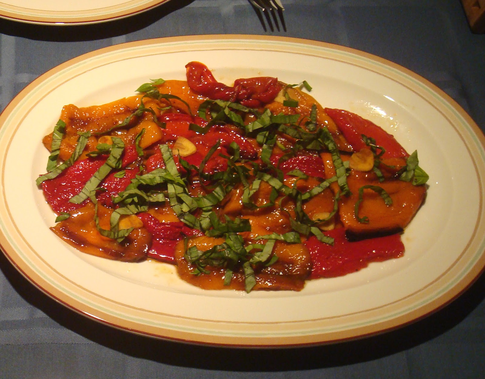 Garlic Marinated Roasted Peppers ~ New York Food Journal