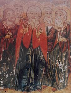 Οι Αγίοι Πέντε του Κύπριου ζωφράφου Παρθένιου. 18 αιώνας