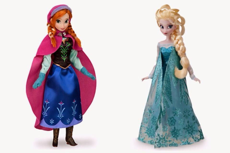 Gambar boneka anna dan elsa frozen gratis
