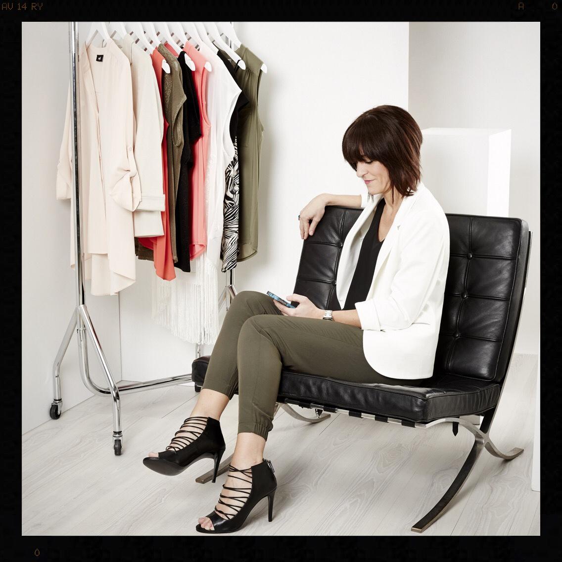 Wallis Fashion My Midlife Fashion Ivory Bracelet Sleeve Ponte Jacket Black Camisole Khaki Pinstitch Skinny Trousers Black Leather Peptone Sandals