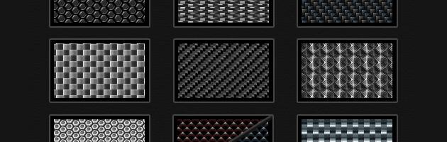 カーボンパターンセット | 金属の質感たっぷりメタルパターン素材。無料、商用可。