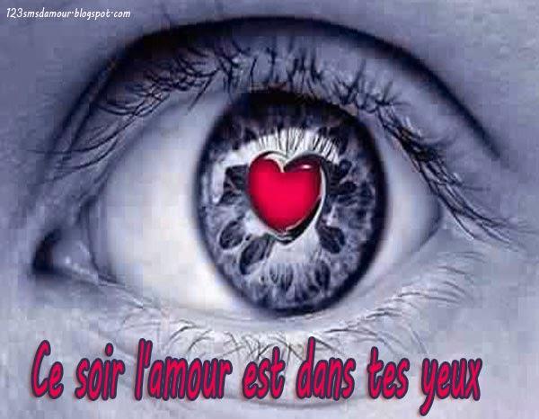 SMS et messge d'amour tes yeux