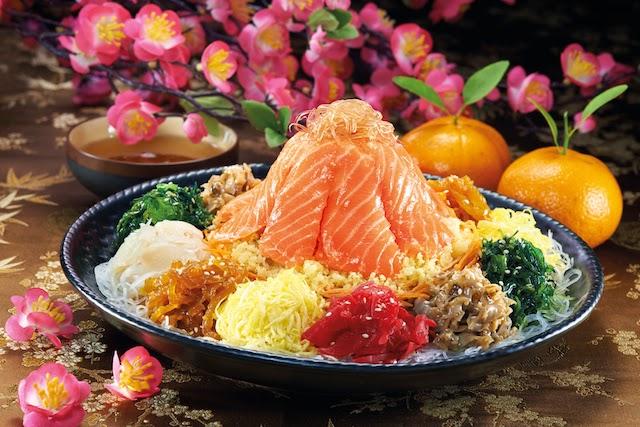 File pic of Sakae Sushi's Fortune Salmon Yee Sang