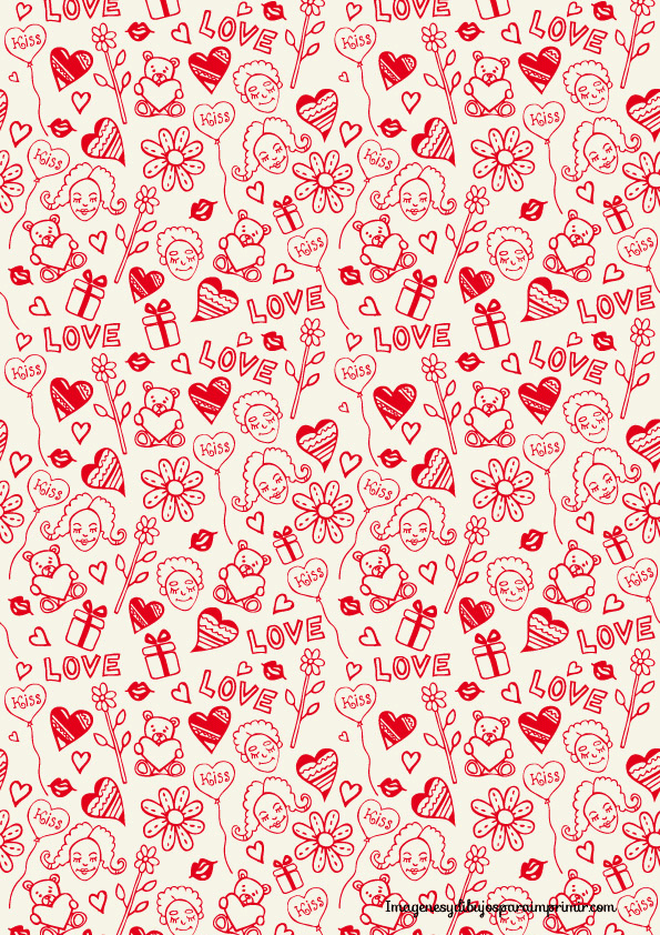 Papel decorativo para imprimir corazones imagui for Papel decorativo pared