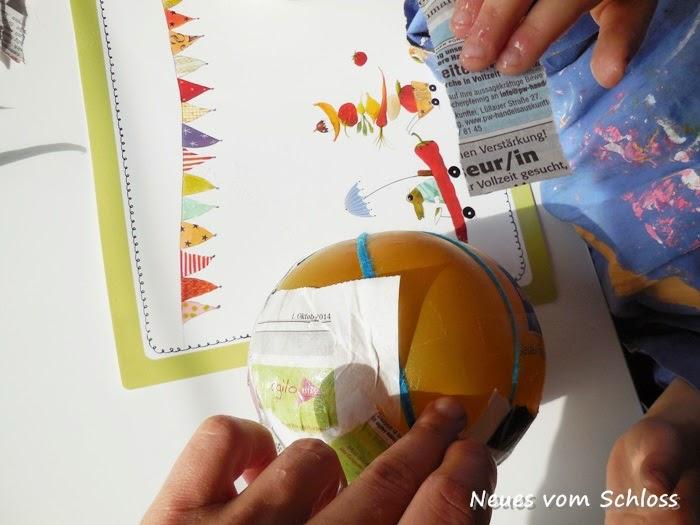Creadienstag, upcycling, Pappmaché, Basteln mit Kindern- neuesvomschloss.blogspot.de