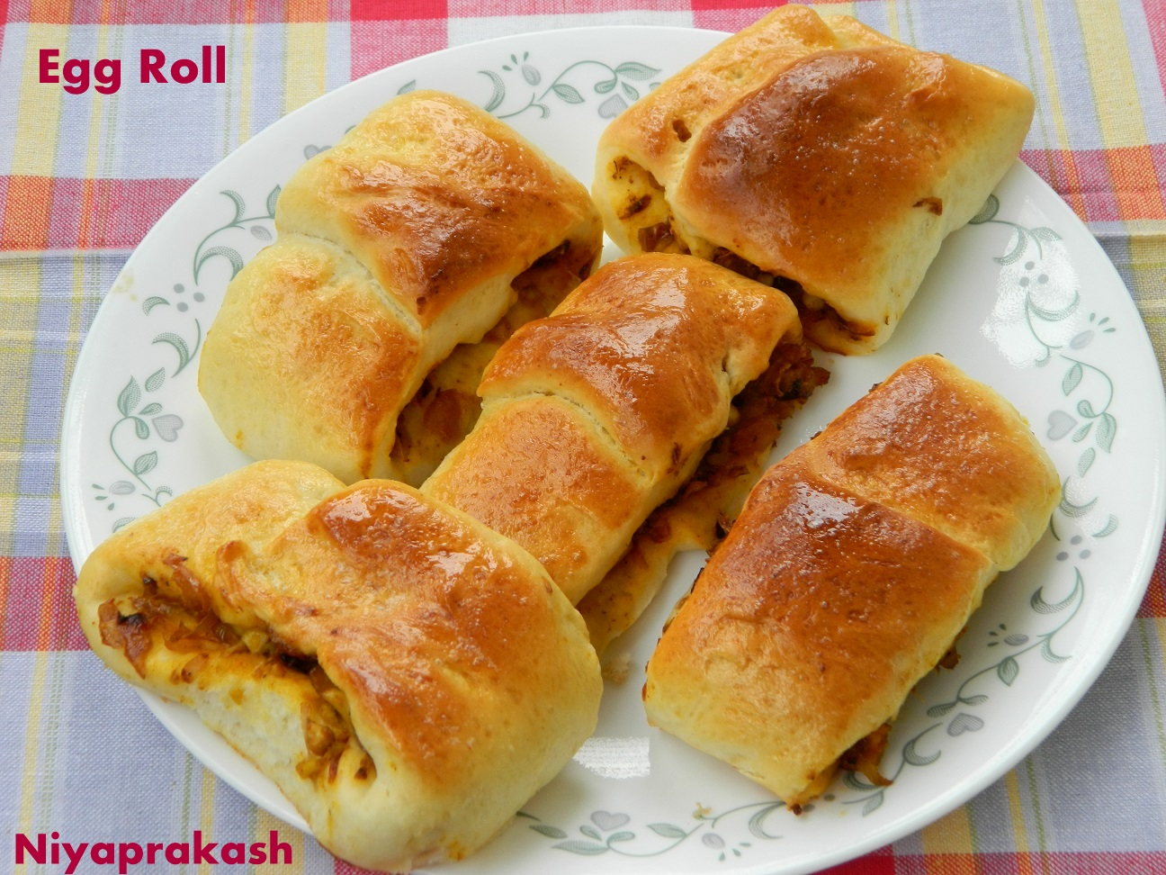 ... today i m making egg roll or rolled egg last year i made egg roll and