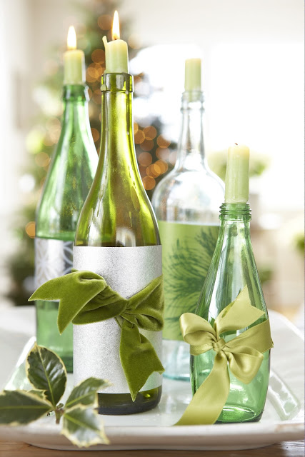 Wedding talk wine bottle centerpieces