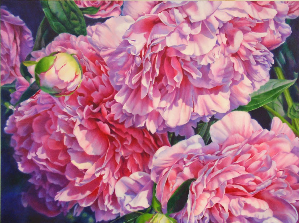 barbara fox daily paintings flower of riches peony oil On peony oil painting