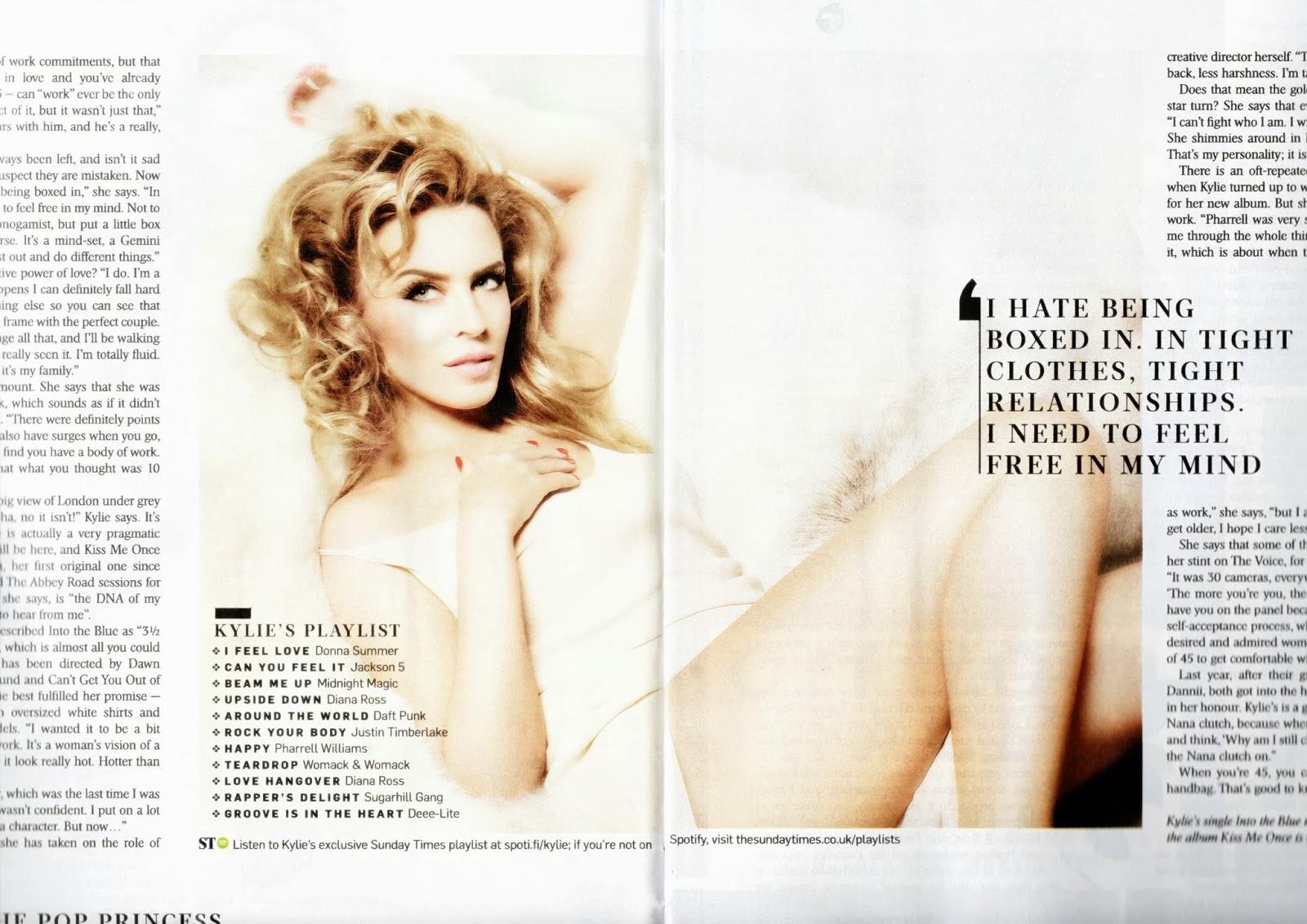 Kylie Minogue HQ Pictures Sunday Times Style UK Magazine Photoshoot February 2014