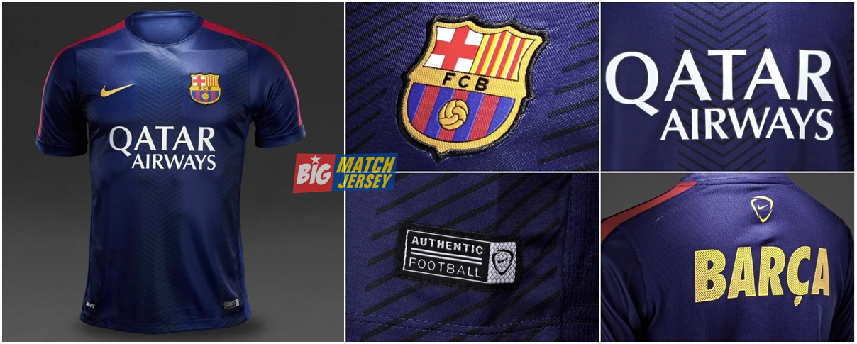 Jersey Pre-Match Barcelona Blue 2014 - 2015 | Big Match Jersey | Toko ...