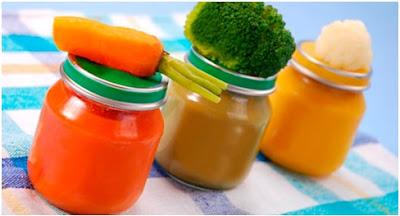 Papinhas para o bebê de verduras.