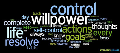 Self Discipline/Control, Will Power, Actions, Goals, Exercise & Habits.