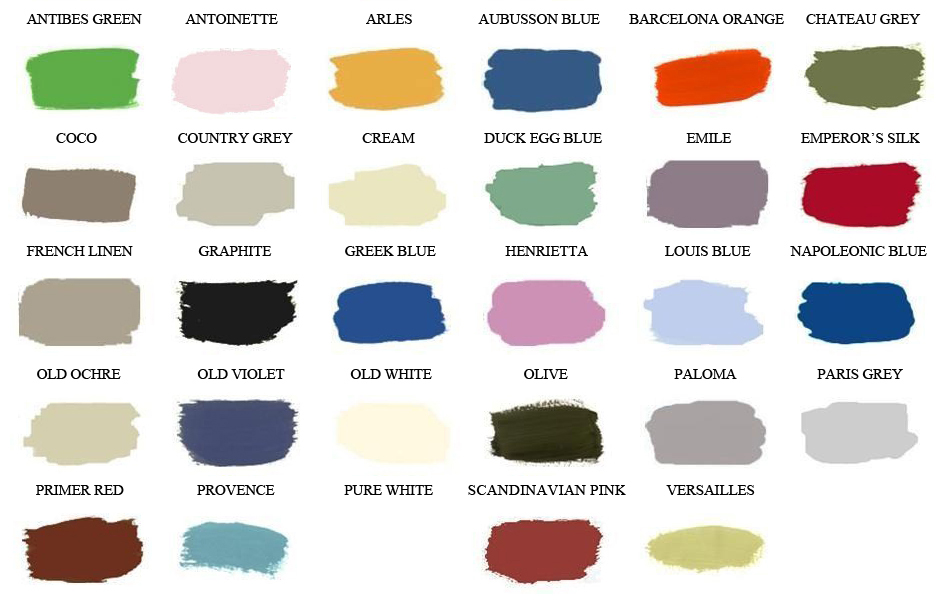 the painted attic welcome pages color chart