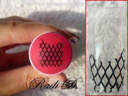 печат на нокти с мрежичка