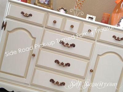 Painted wood dresser to stylish white
