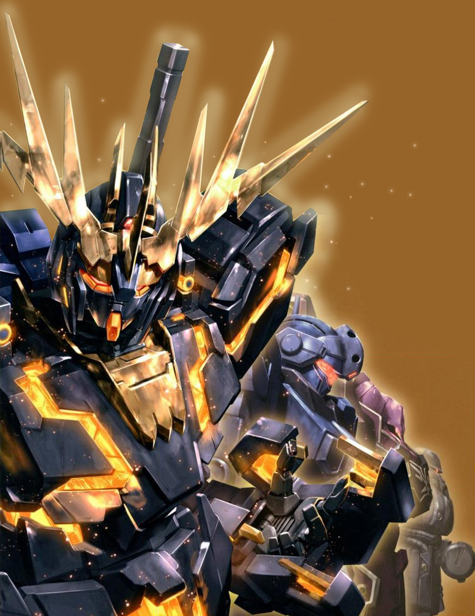 Gundam Unicorn and Banshee Wallpaper - Gundam Kits ...