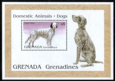 1995年グレナダ領グレナディーン諸島 イングリッシュ・セターの切手シート