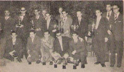 Participantes en el XVIII Campeonato de España de Ajedrez 1957