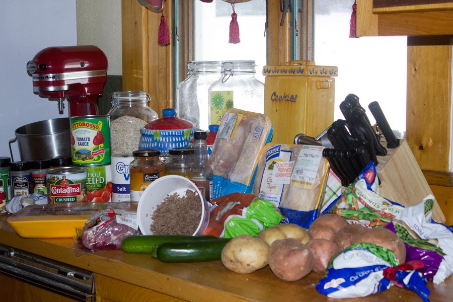 Ingredients for freezer meals