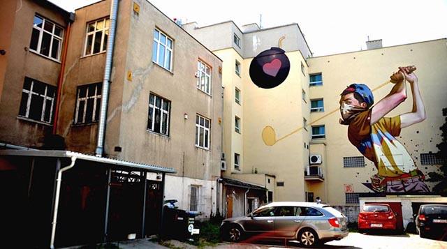 Murales impresionantes Etam Cru convierten aburridos edificios en obras de arte
