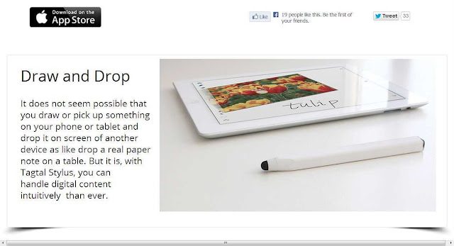 A Stylus which is as a digital dropper, moves videos & pictures from one screen to another