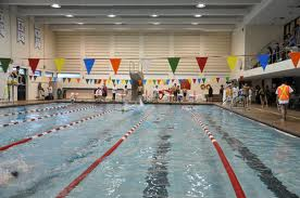 An image of Tait's swimming pool.