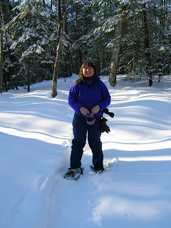 Snowshoeing in Maine