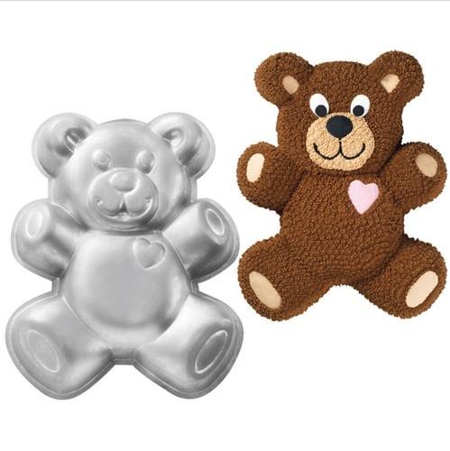 forma de bolo 3d urso de pelucia ursinho