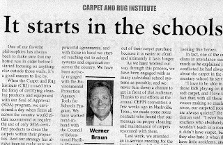 Better Carpet Cleaning Starts in Schools: Werner Braun