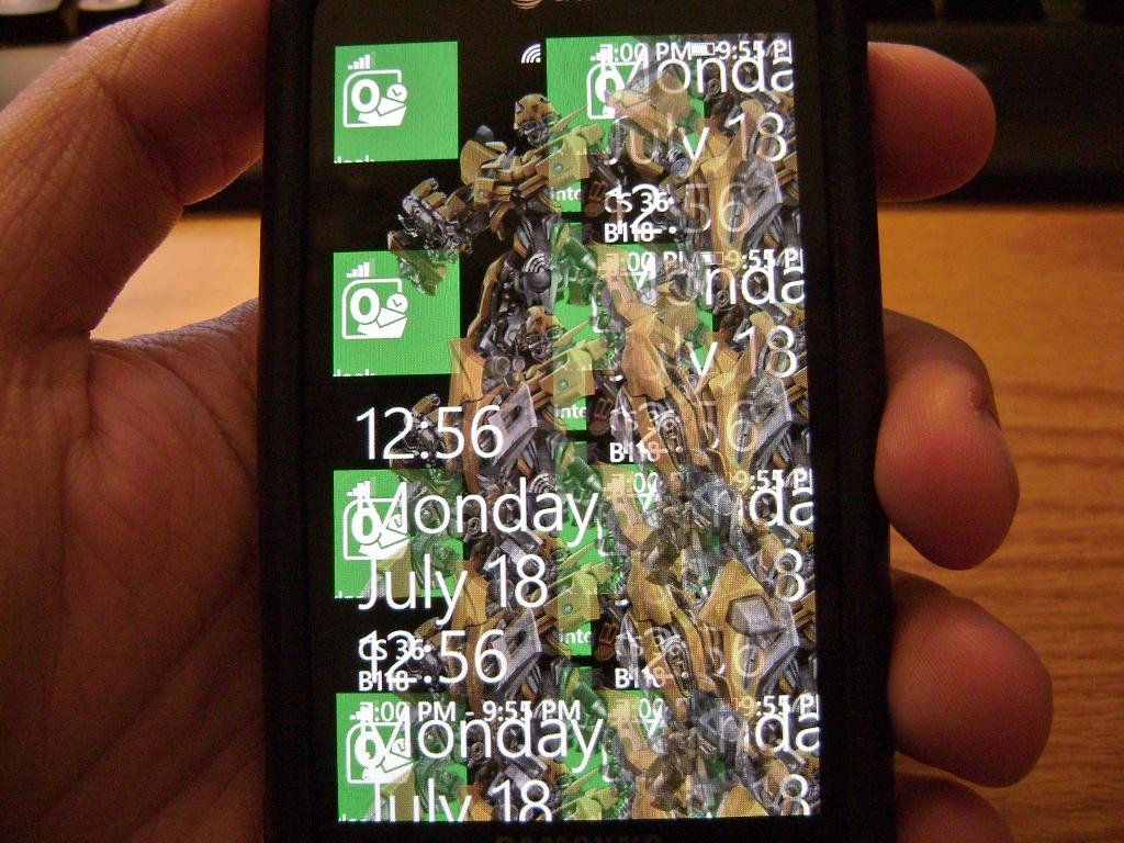 Transparent wallpapers broken in Mango? - Nokia Windows Phone 7
