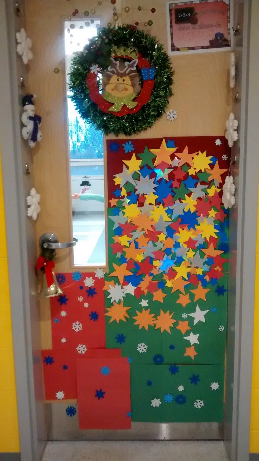 La maternelle de francesca concours d coration de porte for Decoration porte novembre