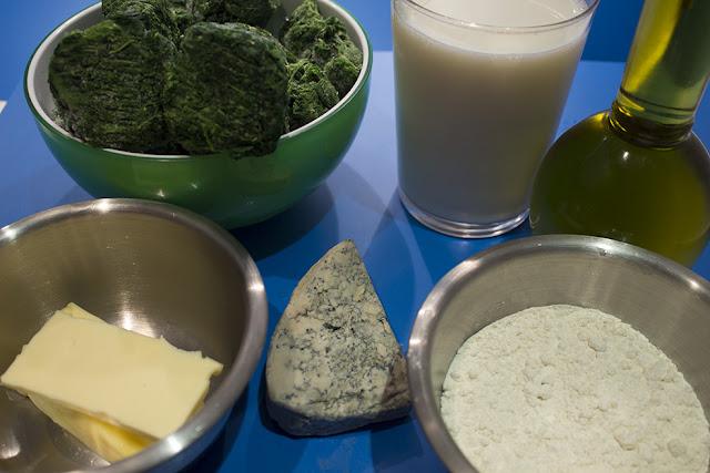 ingredientes croqueta espinacas y cabrales