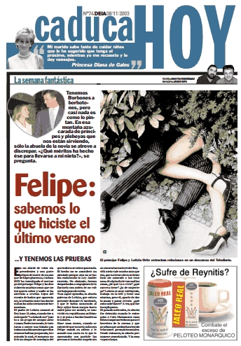 Caduca Hoy, Felipe, Letizia, injurias, familia real, querella