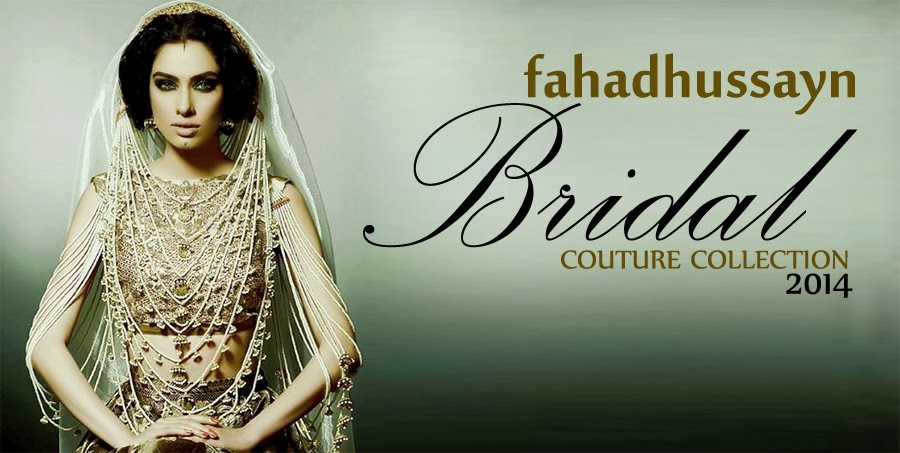 Fahad Hussayn Bridal Lehenga Collection 2014