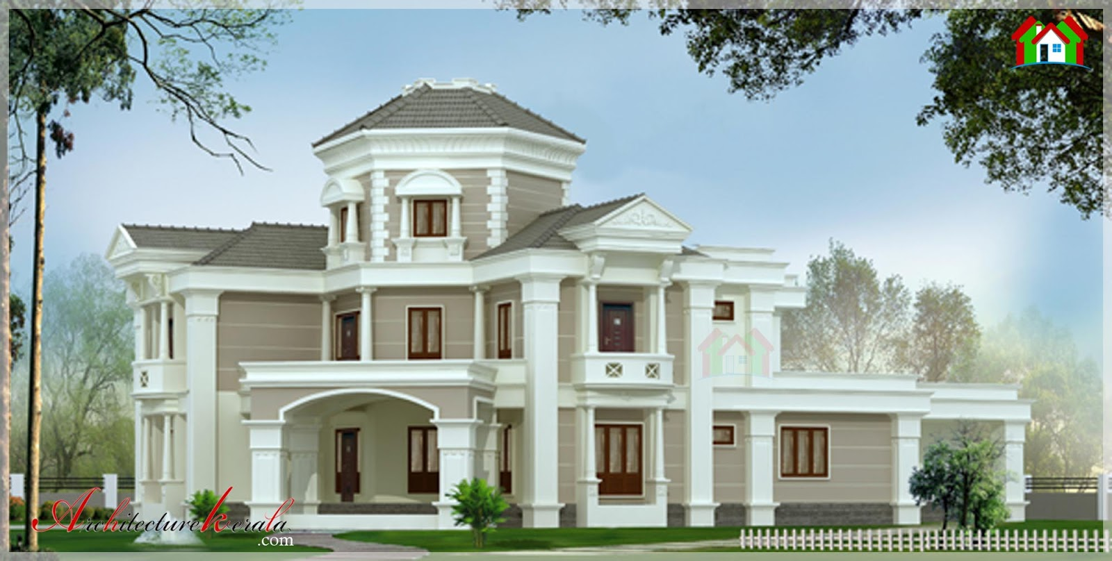 5000 square feet contemporary style elevation for Modern house plans 5000 square feet