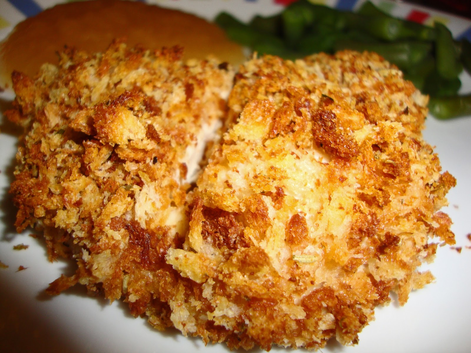 Dining with Dinosaurs: Baked Breaded Chicken