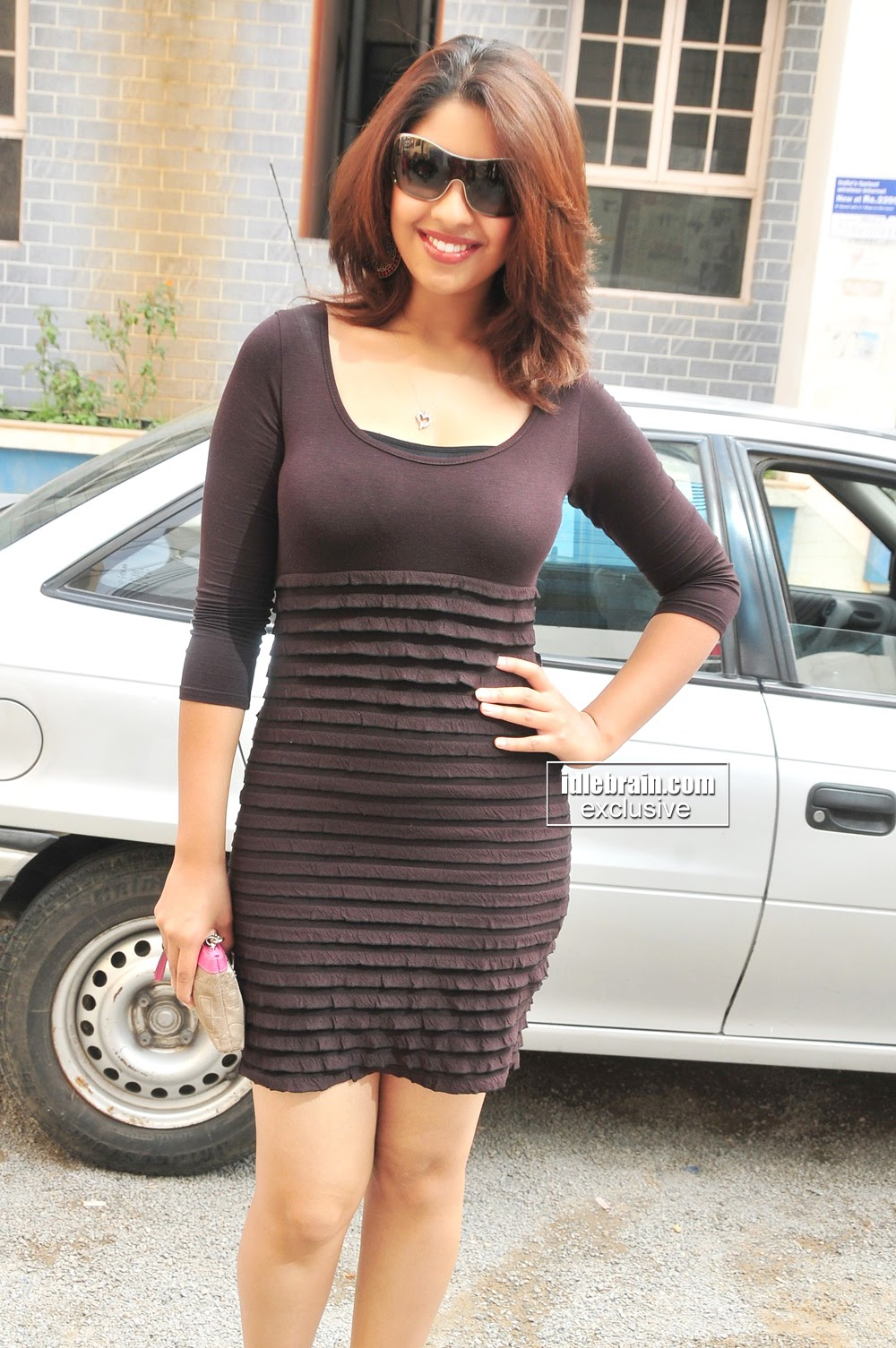 Richa Gangopadhya in black