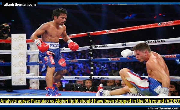 Analysts agree: Pacquiao vs Algieri fight should have been stopped in the 9th round (VIDEO)