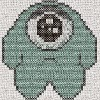 dreaded lurgy monster cross stitch chart