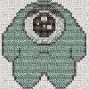 dreaded lurgy monster cross stitch chart